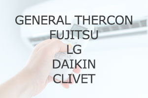 GENERAL THERCON FUJITSU LG DAIKIN CLIVET